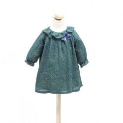 Vestido estampado verde bebe niña de Fina Ejerique