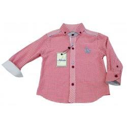 Camisa cuadros fucsia niño de Nekenia