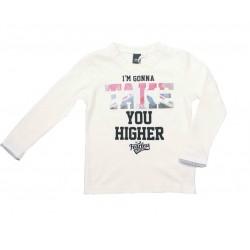 Camiseta crema niño c/letras de IDO