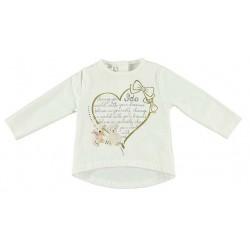 Camiseta corazon dorado bebe niña de IDO