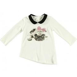 Camiseta asimétrica bebe niña de IDO