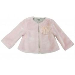 Chaqueta pelo rosa bebe niña de IDO