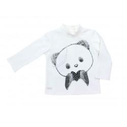 Camiseta crema cara osito bebe niña de IDO