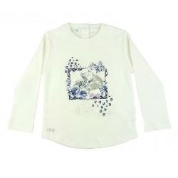 Camiseta crema bebe niña tigres de IDO