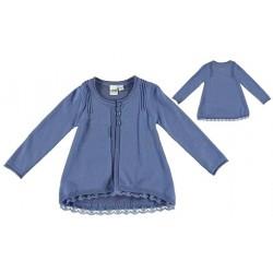 Chaqueta larga bebe niña azul de IDO