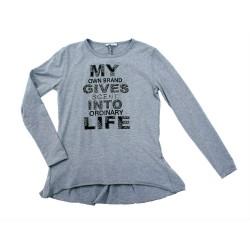 Camiseta gris niña de Artigli Girl