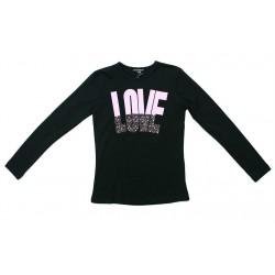 Camiseta negra niña letras malva de Artigli Girl
