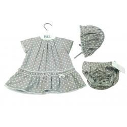 Vestido topitos con capota bebe niña de Paz Rodriguez