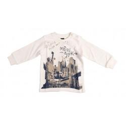 Camiseta crema bebe niño New York de IDO