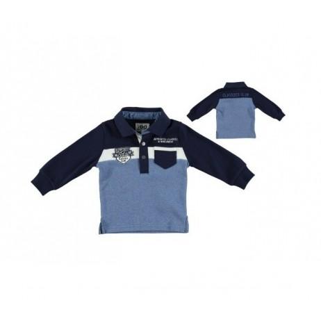 Polo azul bebe niño de IDO