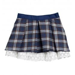 Falda cuadros azules niña de Fina Ejerique