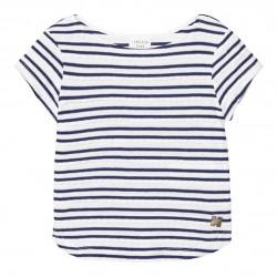 Camiseta rayas marino niña de Carrement Beau