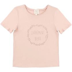Camiseta niña rosa palo logo de Carrement Beau