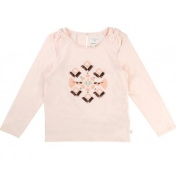 Camiseta niña ml rosa palo de Carrement Beau