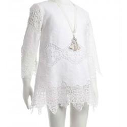 Vestido blanco roto niña de Naxos