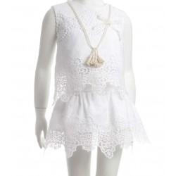 Blusa niña blanco roto de Naxos