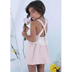 Vestido niña rosa y flecos de Sinfonietta
