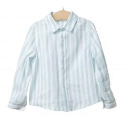 Camisa rayas niño verde agua de Fina Ejerique