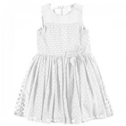 Vestido blanco niña de IDO