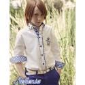 Camisa blanca y azulon niño de Nekenia
