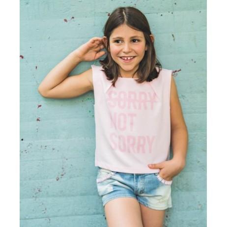 Camiseta rosa niña de FUN & FUN
