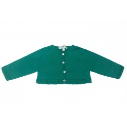 Chaqueta corta verde bebe niña de Fina Ejerique