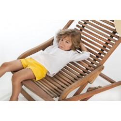 Camisa blanca lino bebe niño de Cocote