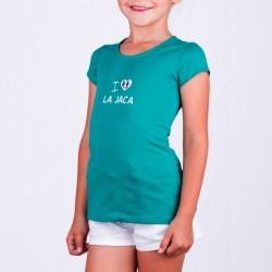 Camiseta verde niña Grecia de La Jaca