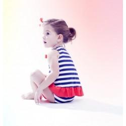 Conjunto marinero bebe niña de Fina Ejerique