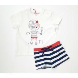 Conjunto marinero bebe niño de Fina Ejerique