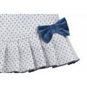 Vestido gris con topitos azules bebe niña de Fina Ejerique