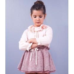Falda punto rosa niña de Sinfonietta