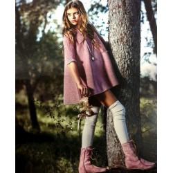Vestido punto lurex rosa MASCHERE de Bella Bimba