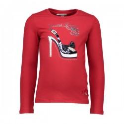 Camiseta roja niña zapato de Le Chic