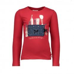 Camiseta roja niña bolso de Le Chic