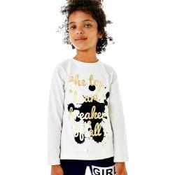 Camiseta niña letras doradas de IDO
