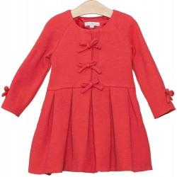 Vestido rojo coral niña de Fina Ejerique