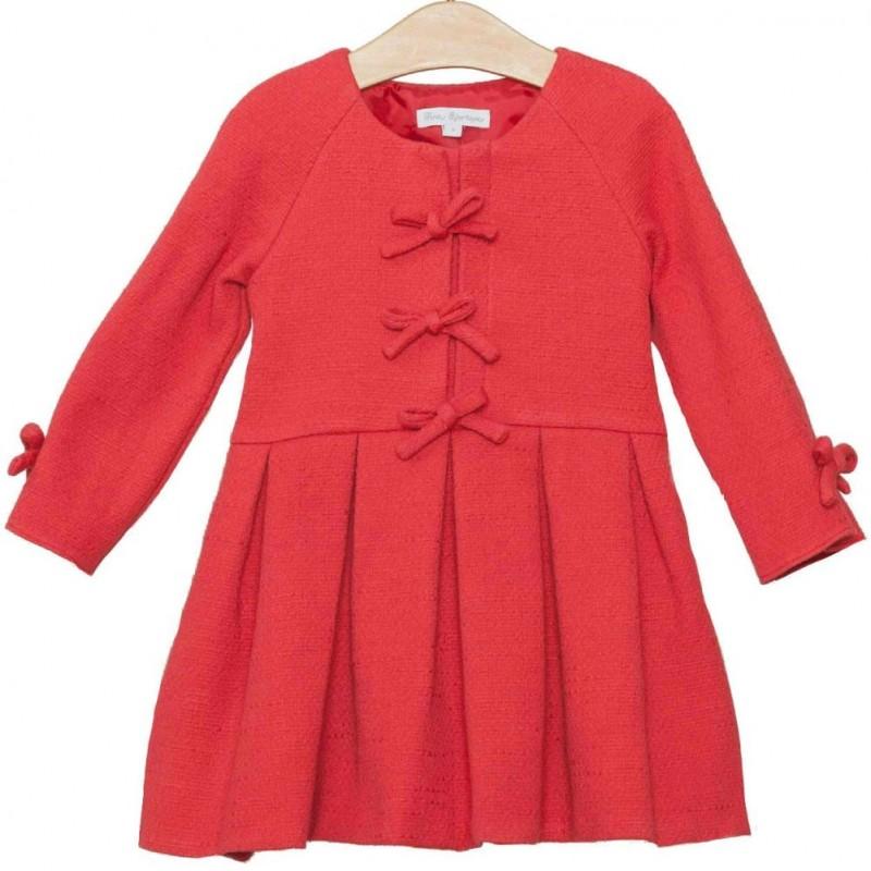 c43ef423e Precio reducido Vestido rojo coral niña de Fina Ejerique