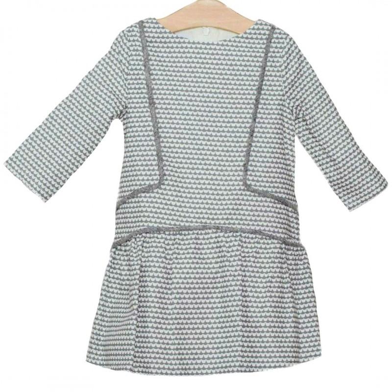 27f5ef7c6 Precio reducido Vestido gris y blanco niña de Fina Ejerique