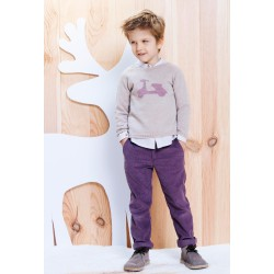 Pantalon pana morado niño de Fina Ejerique