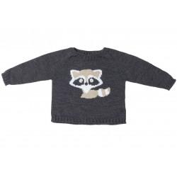 Jersey niño gris marengo mapache de Fina Ejerique