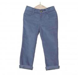 Pantalon pana niño azul hielo de Fina Ejerique