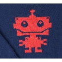 jersey niño azul marino robot rojo coral de Fina Ejerique