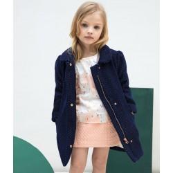 Abrigo rosa niña de Carrement Beau