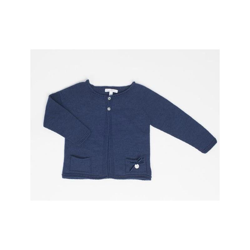 selección premium ed9e0 351e5 Chaqueta azul niña de Fina Ejerique