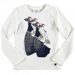 Camiseta crema niña señoritas de Le Chic