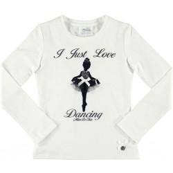 Camiseta crema niña bailarina de Le Chic