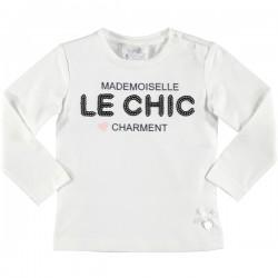 Camiseta crema niña de Le Chic