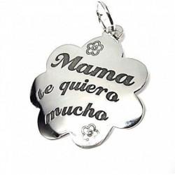 """Colgante plata """"Mama te quiero mucho"""""""