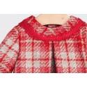 Vestido cuadros rojos bebe niña de Fina Ejerique